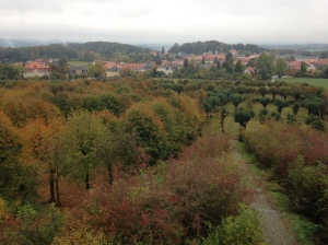 The view of Herrnhut from the prayer tower.